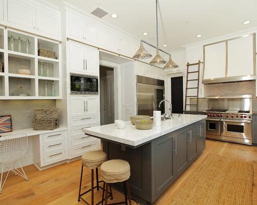 grey island houzz. Black Bedroom Furniture Sets. Home Design Ideas