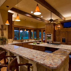 Rustic Kitchen by Linda McCalla Interiors