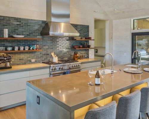Best 15 Farmhouse Kitchen With Concrete Countertops Ideas