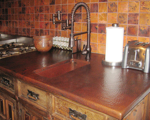 Hammered Copper Countertops Ideas Pictures Remodel And Decor