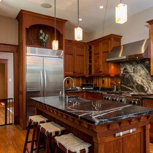 Kitchen - craftsman kitchen idea in Other with stainless steel appliances