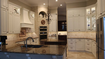 Range Hood Cover, Island and Glass Doors