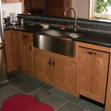 Traditional Kitchen by Kathy Okonske