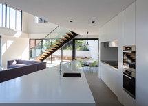 Tile floor in living