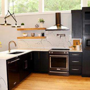 Cuisine Moderne Avec Une Peninsule Photos Et Idees Deco De Cuisines