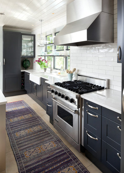 Transitional Kitchen by Kate-Lo Tile & Stone