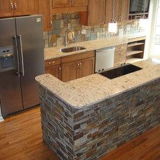 Modern Kitchen by Brighton Stone & Fireplace, Inc.