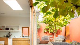 Rear kitchen/dining extension with courtyard garden