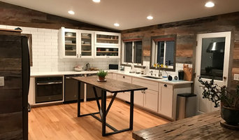 Reclaimed Barn Siding Accent Walls and Reclaimed Semi Truck tables.
