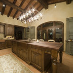 Tri Color Kitchen Rustic Kitchen Huntington By