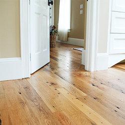 Reclaimed Schoolhouse Flooring - Our Reclaimed Schoolhouse Oak flooring in living room and bedroom.