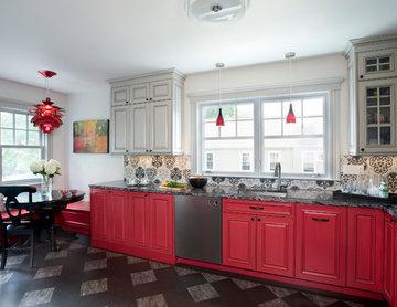 Red & Gray Kitchen