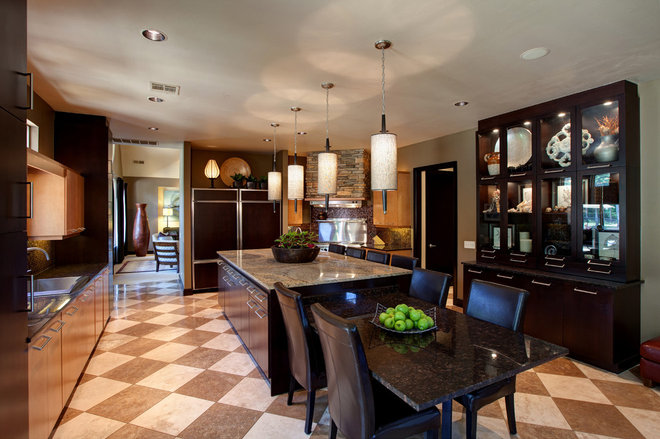 Contemporary Kitchen by Christopher Lee & Company Fine Homes