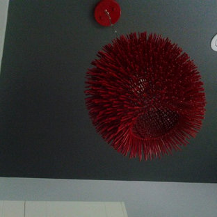 Red contemporary kitchen pendant