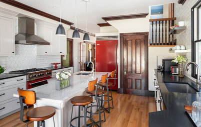 Kitchen of the Week: Renovated to Wow in White, Wood and Red