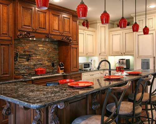 Stacked Stone Backsplash Ideas Pictures Remodel And Decor