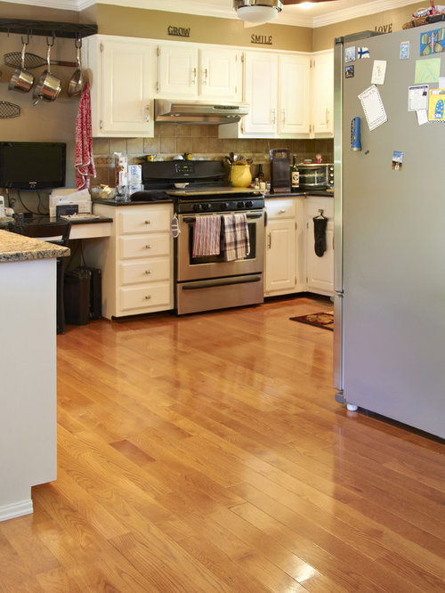 Red oak hardwood floors ideas pictures remodel and decor - Poplar wood kitchen cabinets ...