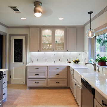Red River Remodelers retro feel kitchen