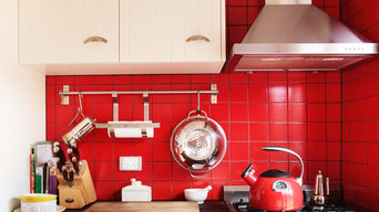 Red Splashback Kitchen