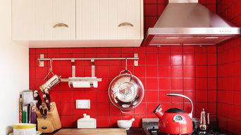 Red Splashback Kitchen