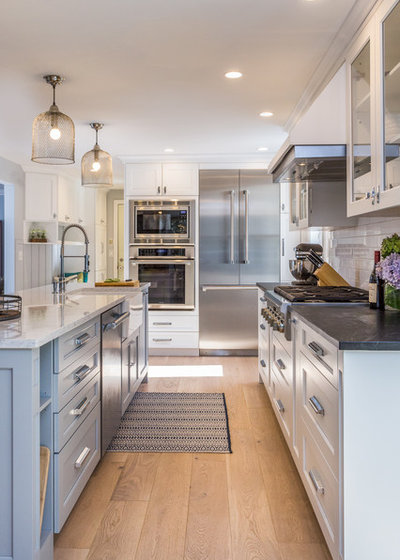 Transitional Kitchen by New England Design Elements