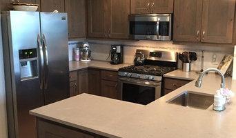 Refaced Original Oak Painted Kitchen