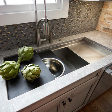 Refined Dusk Grey Custom Kitchen in Winnetka