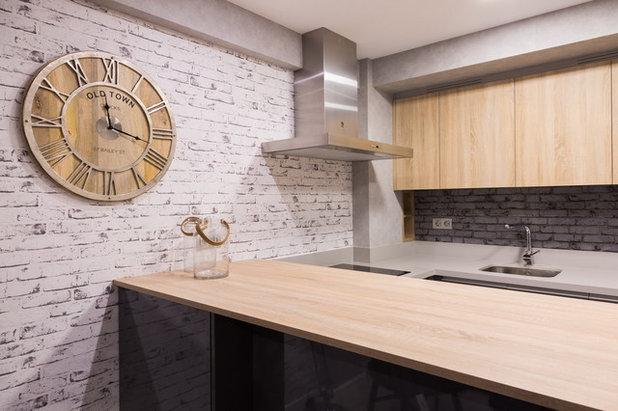 Ideas para dar un toque industrial a la cocina sin restar for Material de cocina industrial