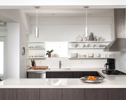 Open Shelving Upper Kitchen Cabinets