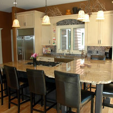 Contemporary Kitchen by Minnetonka Custom Homes, Inc