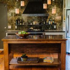 Transitional Kitchen by studio b. elements