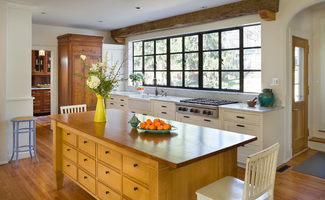 Traditional Kitchen by Bob Greenspan Photography