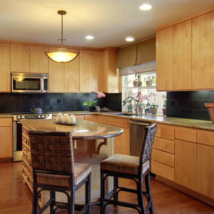Remodeled Asian-Inspired Kitchen & Family Room