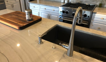 Remodeled Kitchen using Quartzite and new garbage disposal switch
