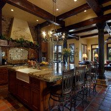 Mediterranean Kitchen by Period Style Homes Plan Sales, Inc