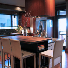 contemporary kitchen by Lauren Mikus