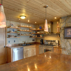 Rustic Kitchen by Copeland Architecture & Construction Inc