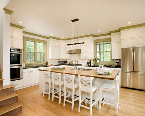 Bamboo flooring houzz for Bamboo kitchen cabinets australia