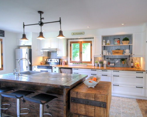 Country Kitchen Design Ideas Renovations Photos With A Single Bowl Sink