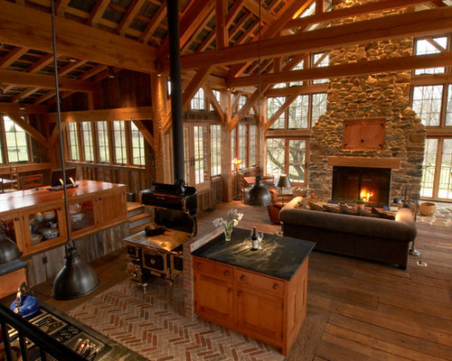 Rustic Timber Frame Home Design Ideas Pictures Remodel