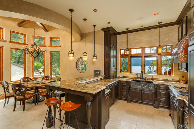 Mediterranean Kitchen by LS3P | Neal Prince Studio