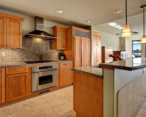 galley eat in kitchen design ideas remodels photos with medium tone
