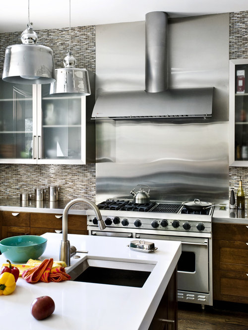 pictures of tile backsplashes in kitchens stainless steel backsplash houzz 9134