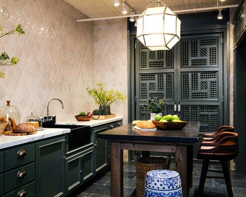 World inspired kitchen design ideas renovations photos for Asian inspired kitchen ideas