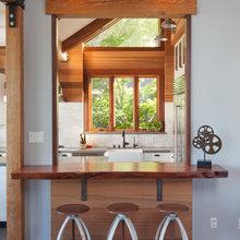 Kitchen bar counter (not at an island)