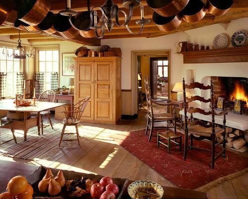 Fotos de cocinas dise os de cocinas de estilo de casa de - Cortinas para casas de campo ...