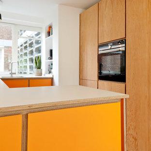 Geschlossene Moderne Küche in London