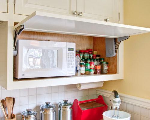 Microwave Storage | Houzz