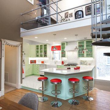 Retro Kitchen Remodel in Humboldt Park Chicago