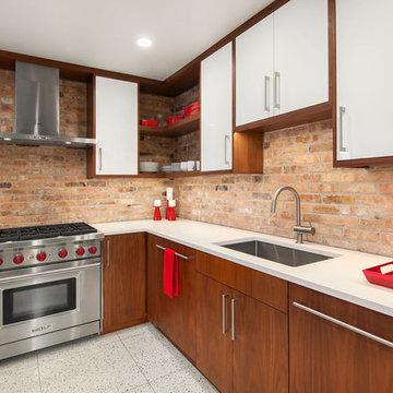 Retro, Mid Century Modern Kitchen Remodel